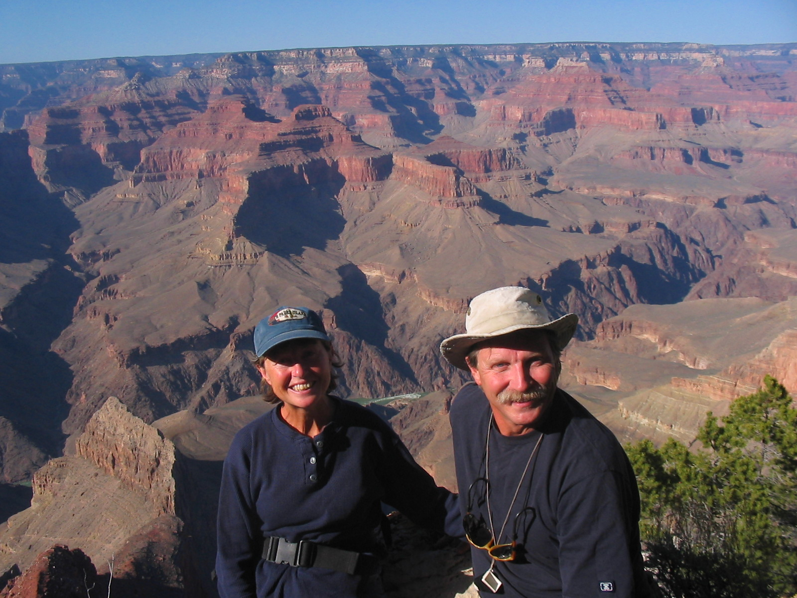 Marianne and husband in Grand Canyon National Park.