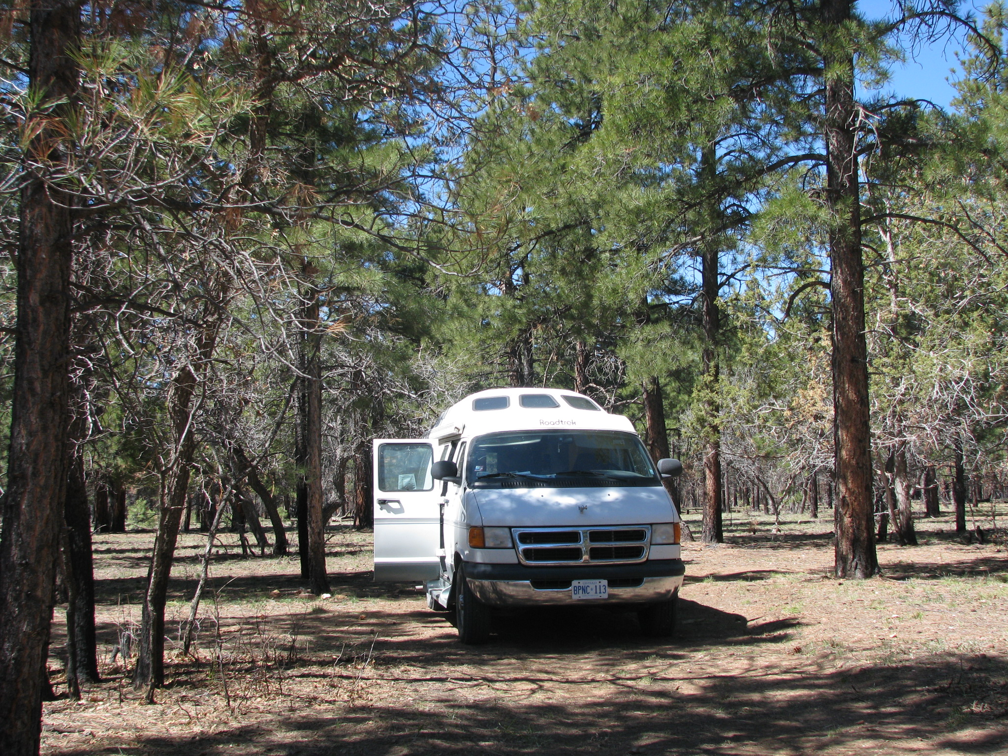Boondocking near east end Grand Canyon.